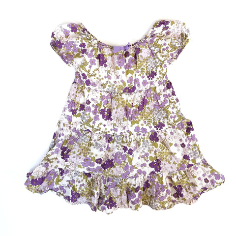 4T Purple Floral Prairie Dress - Wild Child