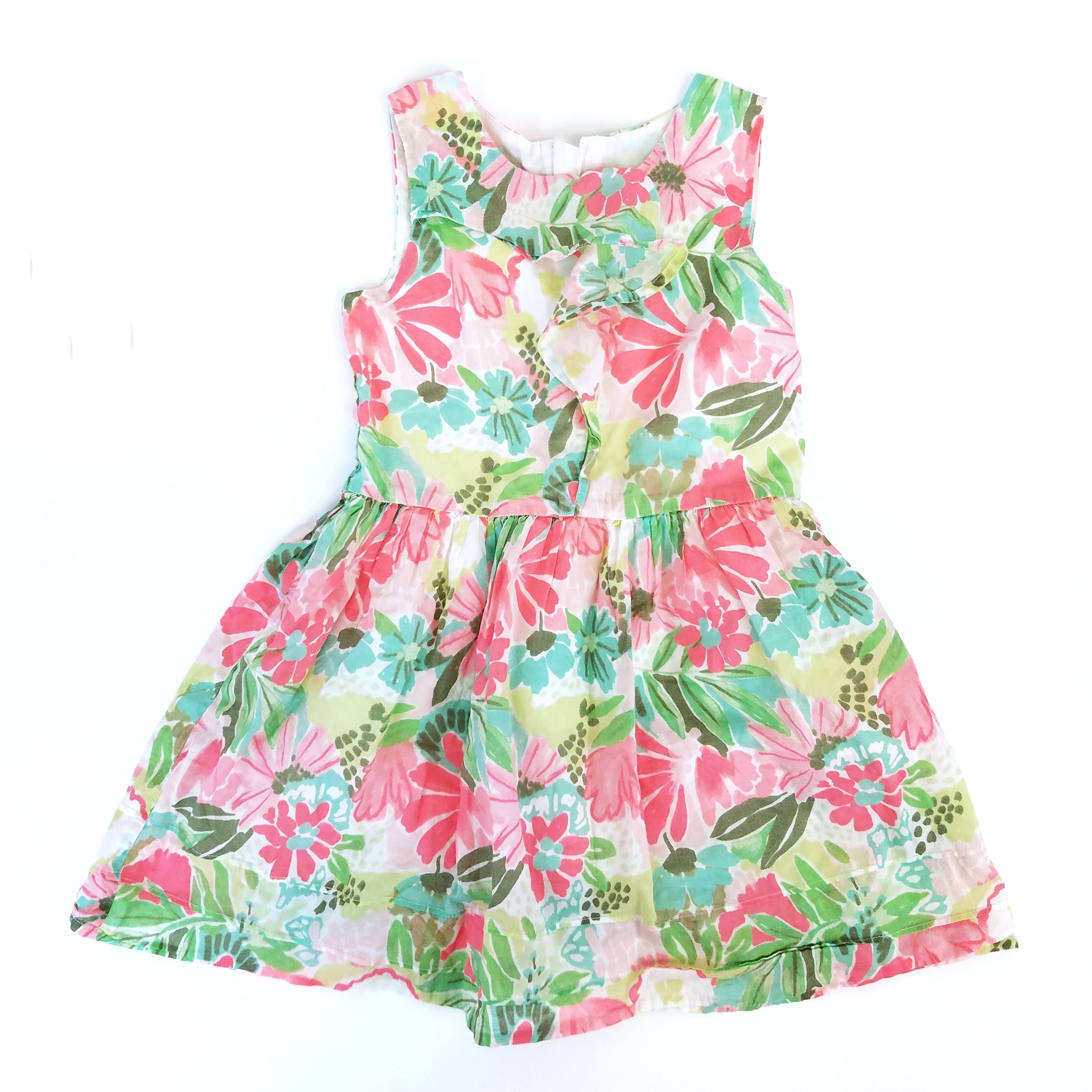 5t Ruffle Vintage-Inspired Floral Dress - Wild Child