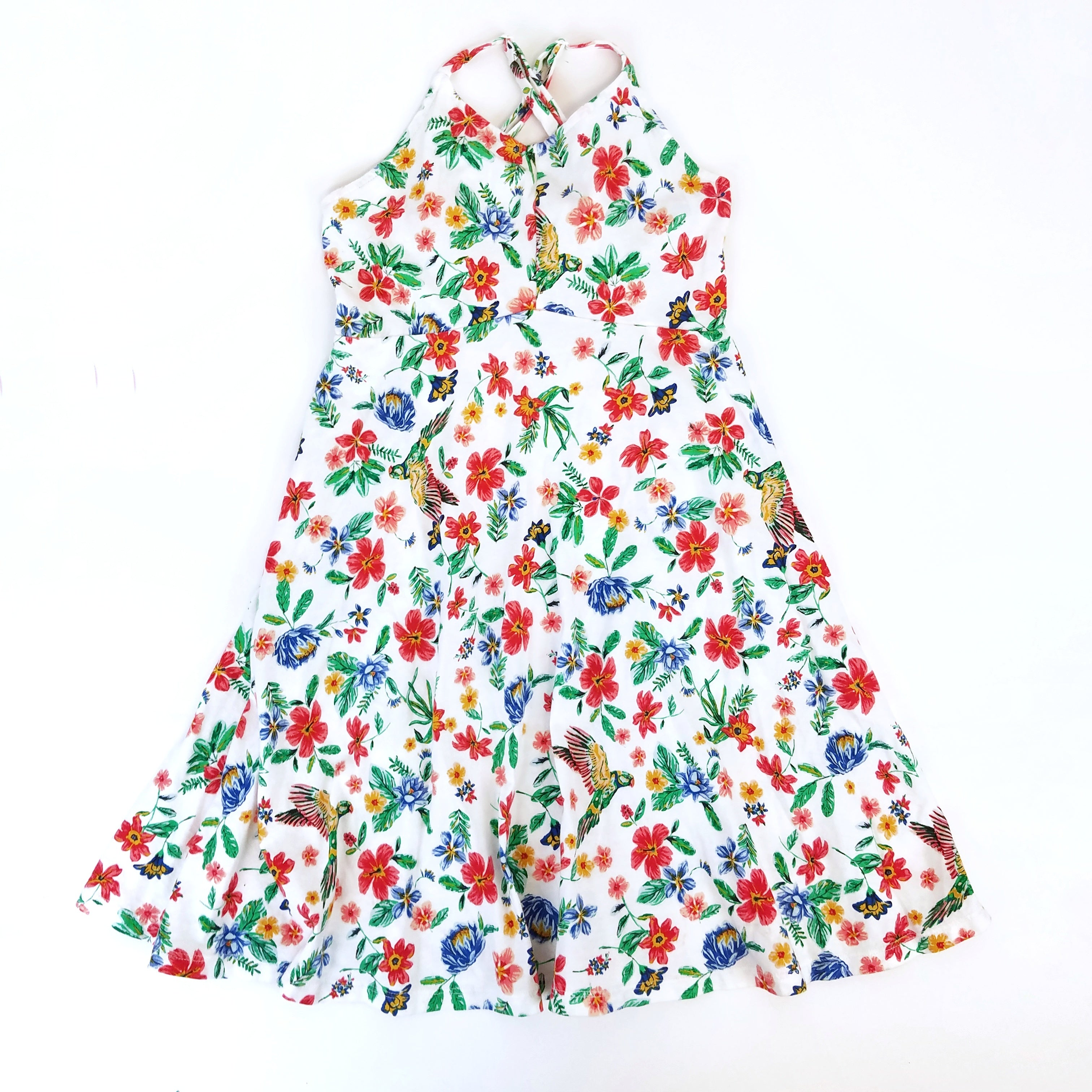 Sz 8 Hawaiian Halter Dress - Wild Child