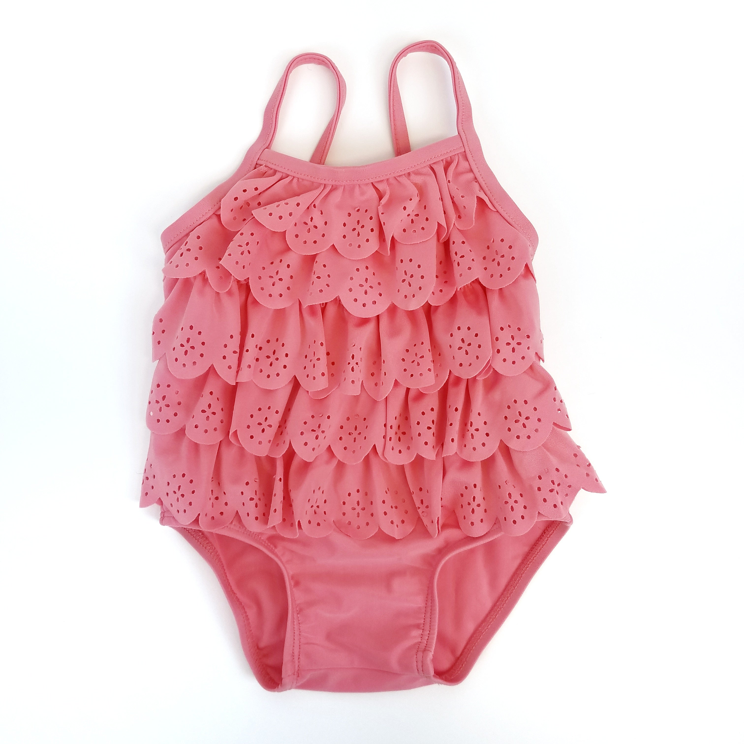 Pink Ruffle Swimsuit 3-6 mo. - Wild Child