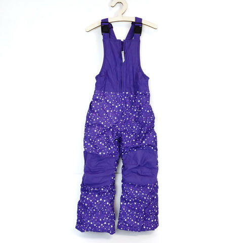 Sz 5 Purple Star Snow Bibs - Wild Child