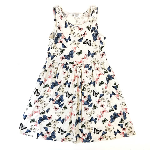 Sz 8-10 Butterfly Floral Tank Dress - Wild Child