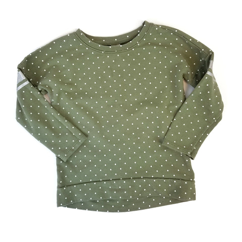 3T Olive Green Dot Sweatshirt - Wild Child