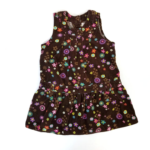 3T Floral Corduroy Pinafore Dress - Wild Child