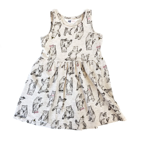 2-4T Oatmeal Bears Tank Dress - Wild Child