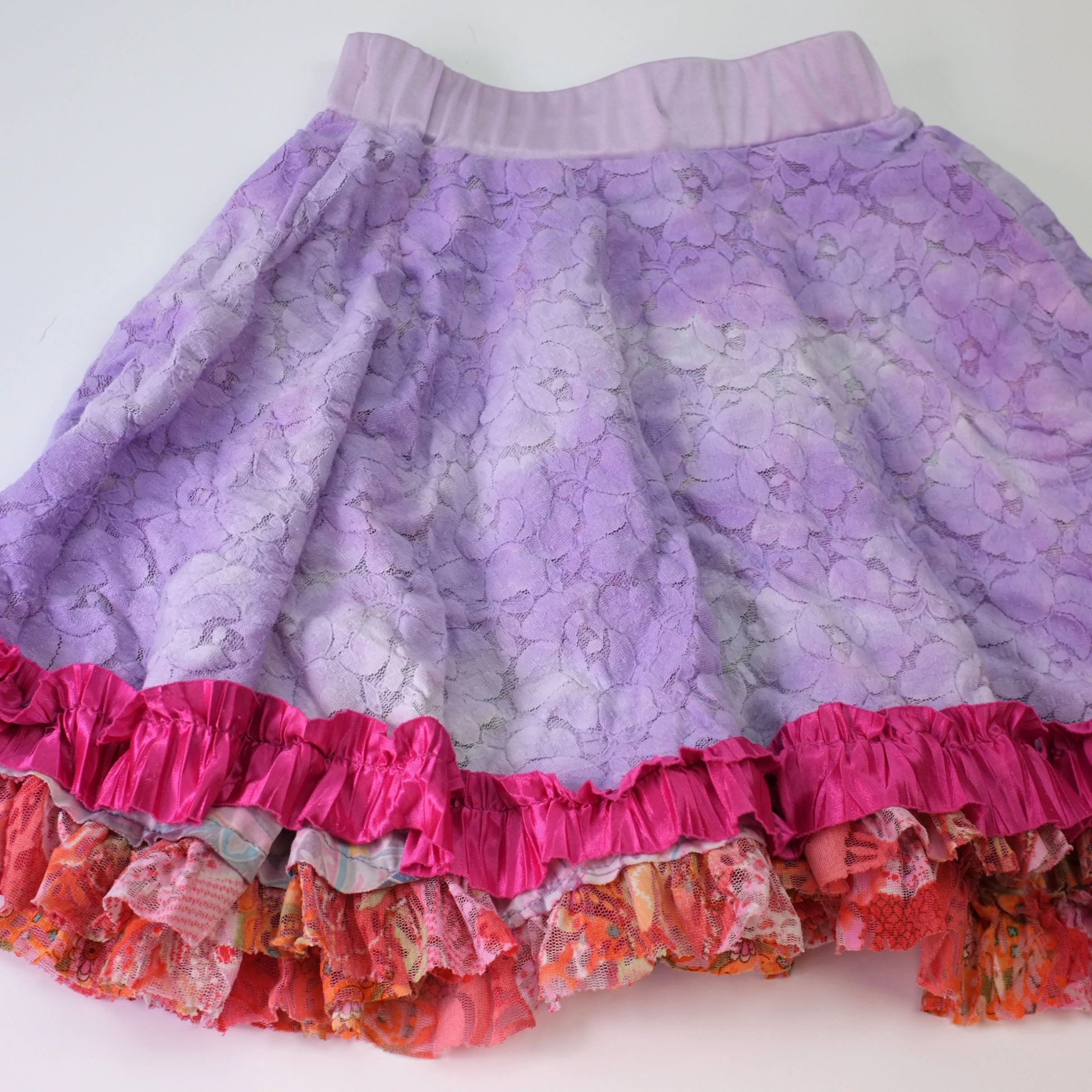 Sz 5 Reversible Lace Skirt - Wild Child