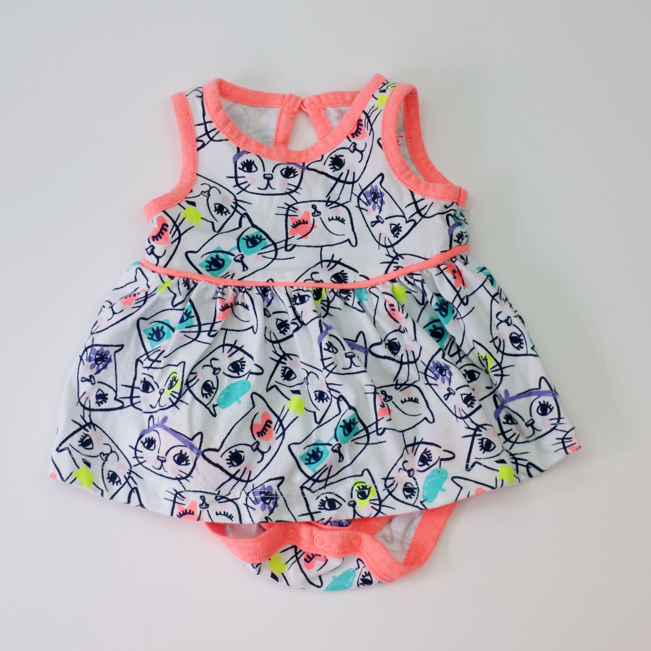 NB Cat Dress Onesie - Wild Child