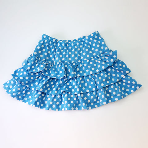 Sz 6-7 Layered Dot Skirt - Wild Child