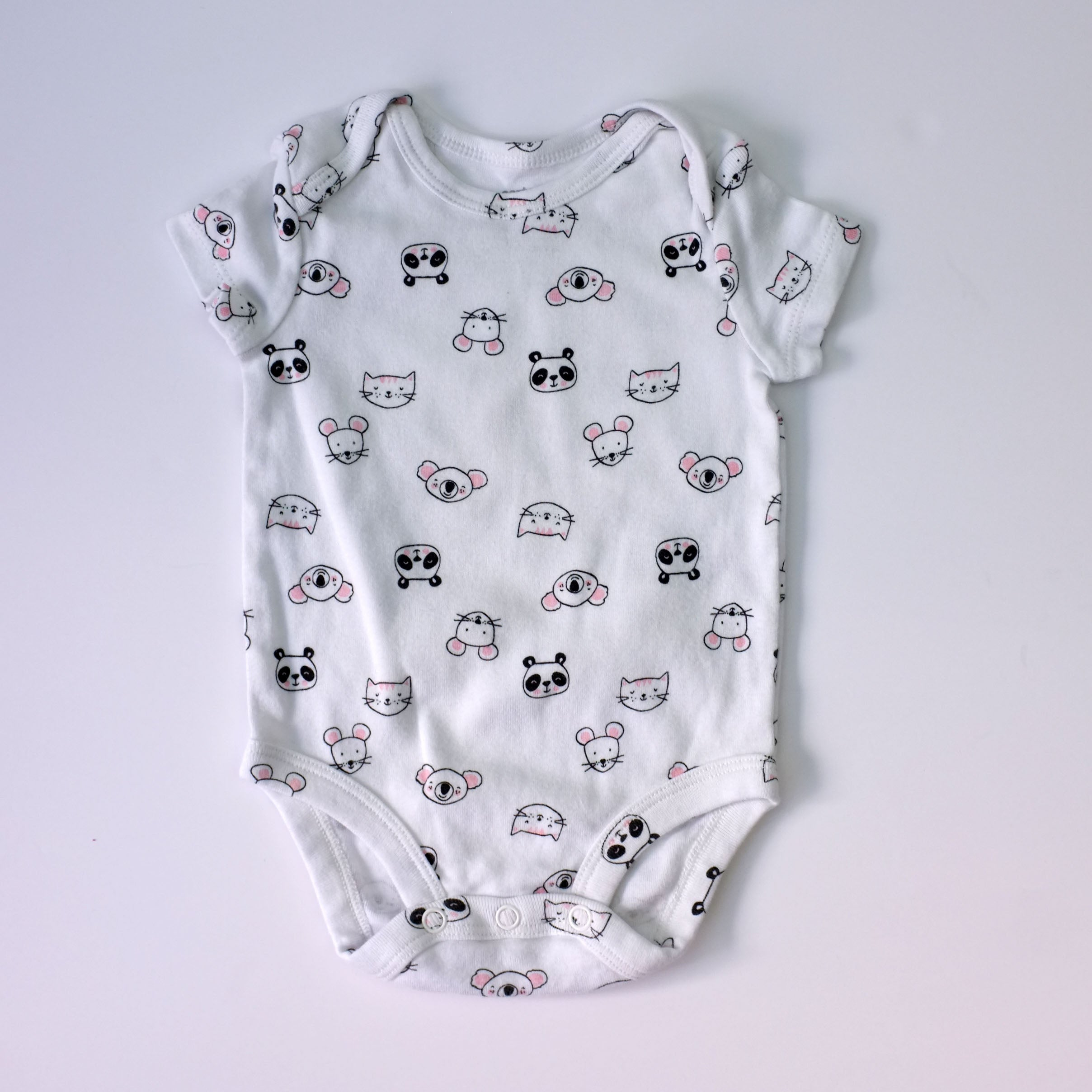 3mo Cute Animals Onesie - Wild Child