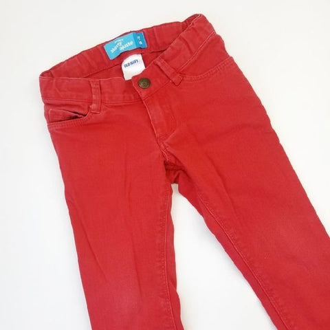 3T Bright Red Skinny Adjustable-waist Jeans - Wild Child