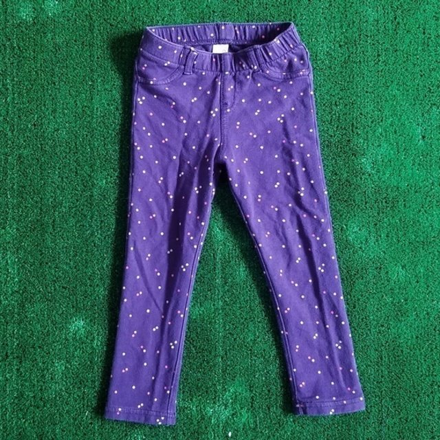 3T Purple Dot Jeggings - Wild Child