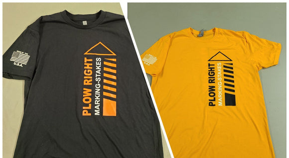 Plow Right Marking Stakes Merchandise T-Shirts
