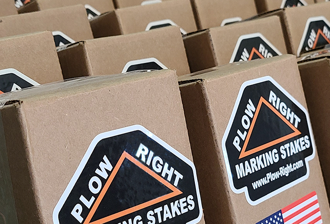 Boxes of Plow Right Marking Stakes