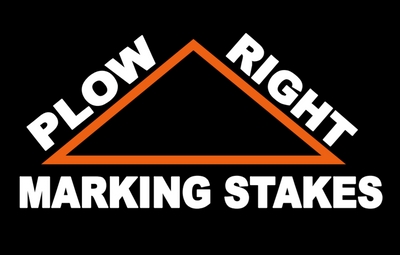 Plow Right Marking Stakes