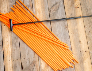 "200 - 26"" Hollow Marking Stakes w/ Installation Tool - Orange  -  .38 Per Stake"