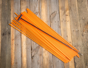 "400 - 36"" Hollow Marking Stakes w/ Installation Tool - Orange -  $0.45 Per Stake"