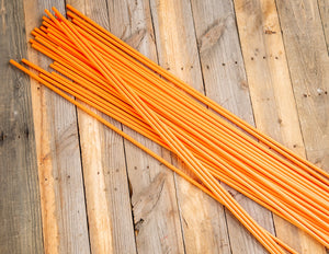 "200 - 48"" Hollow Marking Stakes - Orange  -  $0.61 Per Stake"