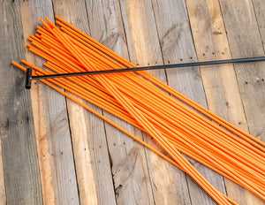 "200 - 48"" Hollow Marking Stakes w/ Installation Tool - Orange  -  $0.61 Per Stake"