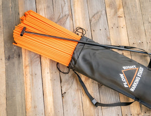 "Orange 48"" Rebound Snow Stakes 48"" in Carrying Pack with Installation Tool"