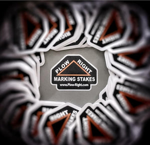 FREE Plow Right Marking Stakes Sticker!!!