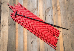 "200 - 48"" Hollow Marking Stakes w/ Installation Tool - Red  -  $0.61 Per Stake"