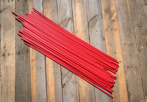 "400 - 26"" Hollow Marking Stakes - Red  -  $0.38 Per Stake"