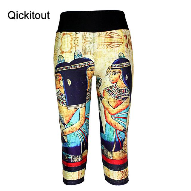 Summer style women's 7 points Leggings Fashion Star space muscle mummy Digital print women's high waist Side pocket phone pants