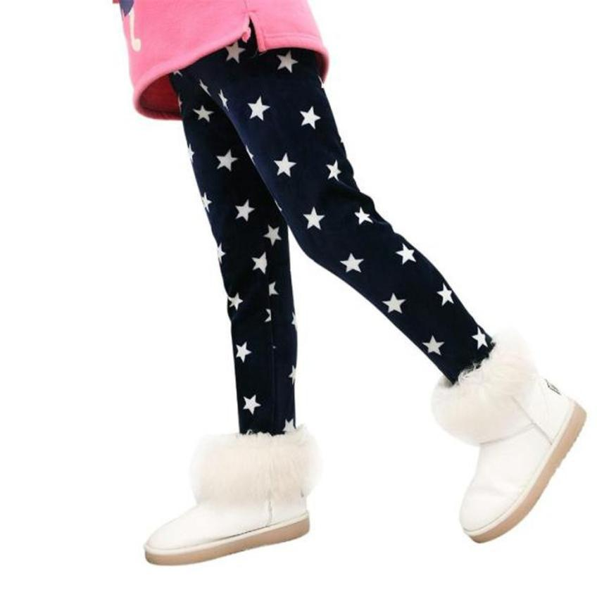 Winter Girls Leggings Thick Warm Elastic Waist Legging Clothing Pants Girls plus velvet leggings