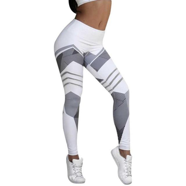 2017 Yoga Leggings Women Printed  Middle-Waisted Sportswear Fitness Skinny Yoga Pant for Women #E0