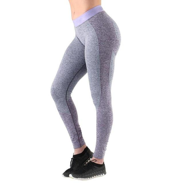 Sports suits for women Yoga Workout High Waist Running Pants Fitness Elastic Leggings Conjunto academia feminina #E0