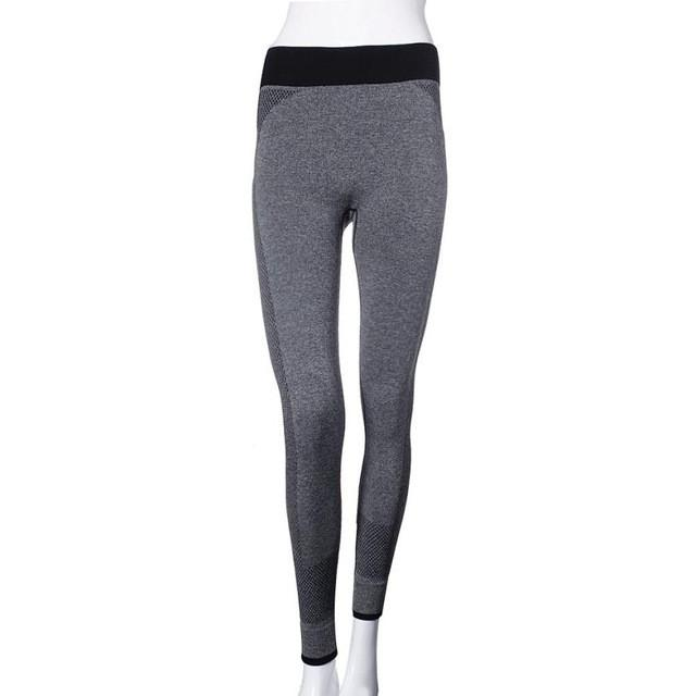 1PC Elastic Waist Ankle-Length Pants Womens Leggings Running Yoga Sports Fitness Gym Stretch Pants Trousers#28