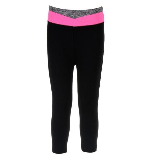Black Pink Stripe Leggings
