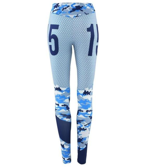 2017 Women Camouflage Yoga Workout Gym Leggings Fitness Sports Athletic Pants Running Gym Trousers S-XL #E5
