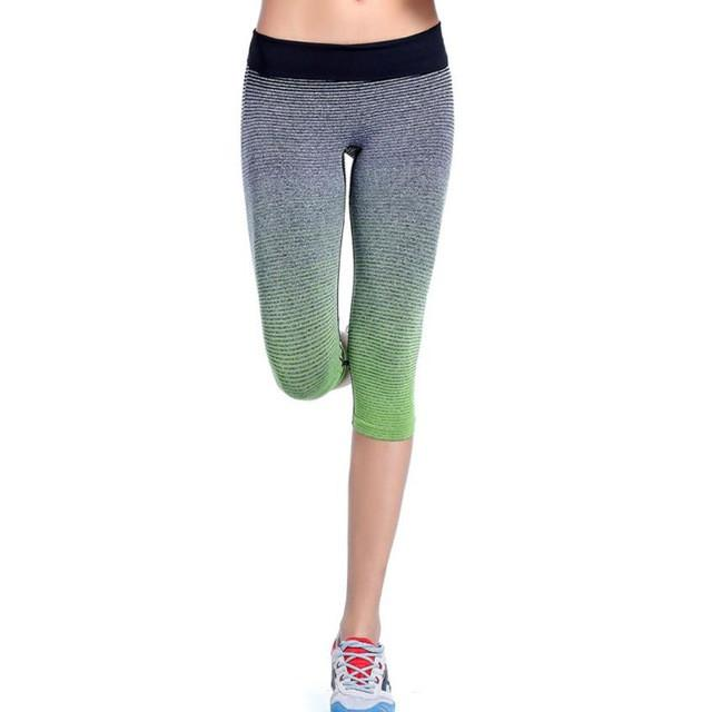 New Women Yoga Sports Pants Elastic Wicking Force Exercise Tights Female Sports Elastic Fitness Running Trousers Slim Leggings