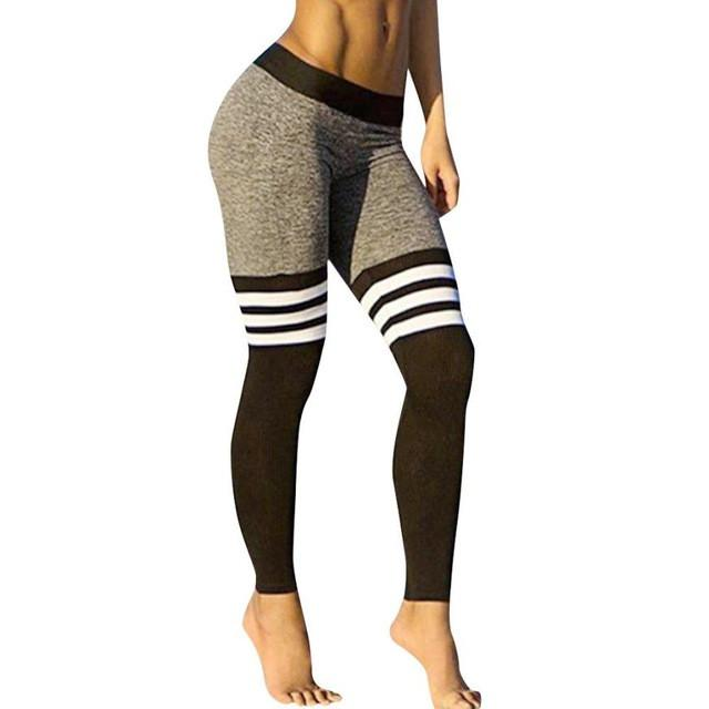 High Quality Women Waist Sexy Sport Pants Skinny Leggings of Patchwork Mesh Push Up Yoga Pants