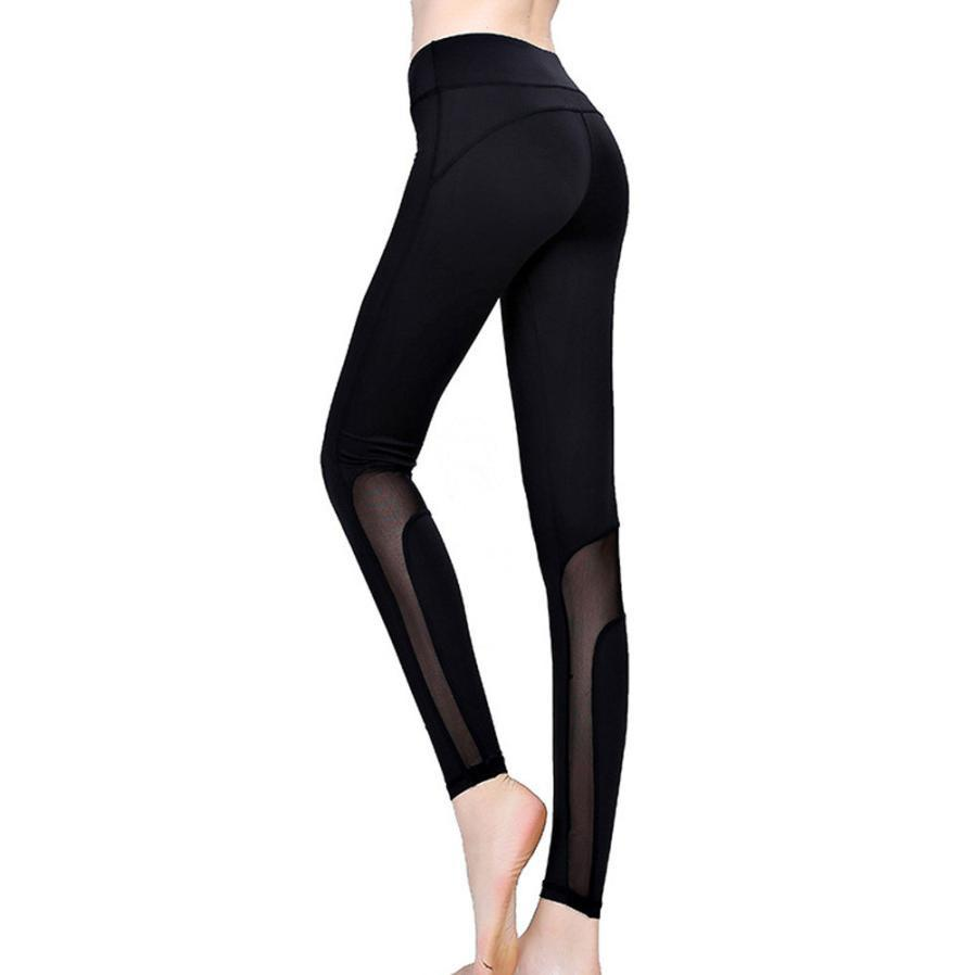 2017 Women Sportswear Elastic Ultra thin Women Yoga Sporting Leggings Fitness Gym Pants Summer Sportswear #EW