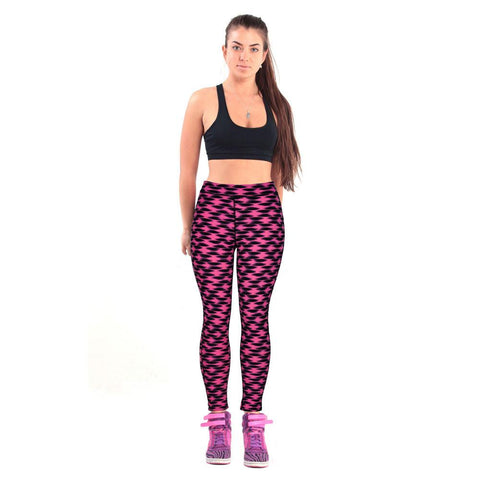 2017 1pc High Waist Fitness Yoga Sport Pants Printed Stretch Ankle Length Pants Leggings Athletic Clothes #GH