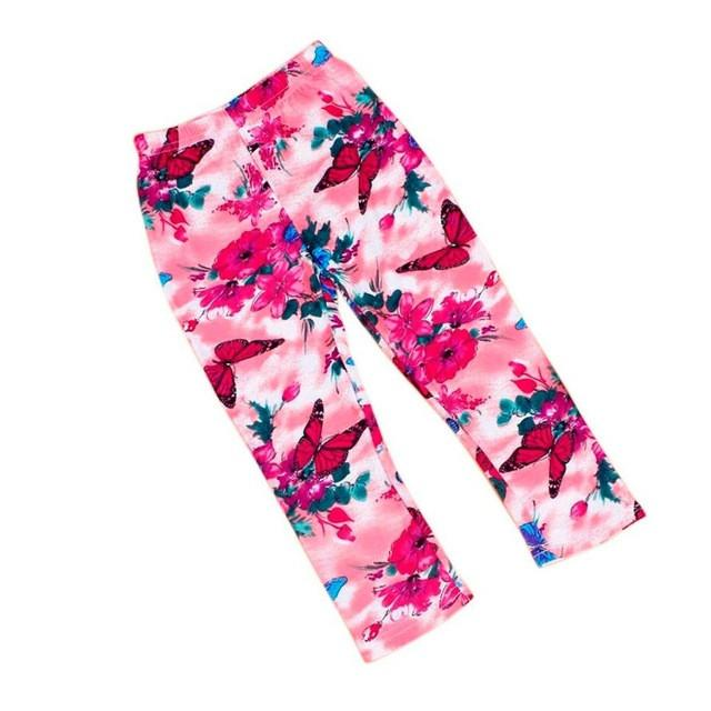 2017 Spring Summer Kids Legging Fashion Children Floral Pants Skinny Girls Leggings Flower Casual Girl Pants Kids Baby Trousers