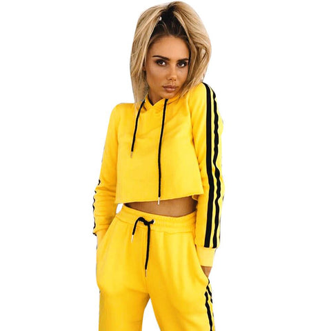 2017 New Sports Yoga Set Autumn Long-Sleeved Hoodie Running Fitness Sports Suits Yoga Clothing Two-Piece Women Sweater #EW