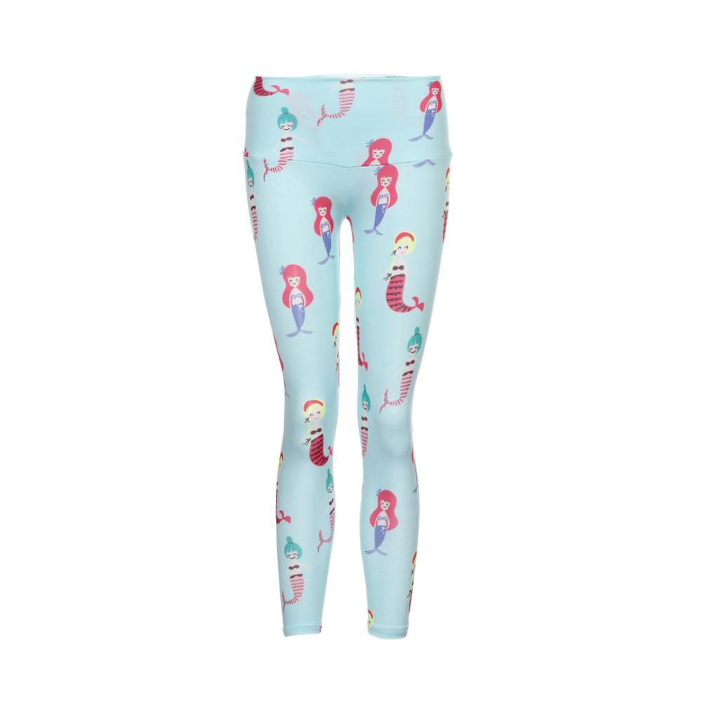 Daughter Running Tights Printed Yoga Pants High Waist Elastic Girls Kids Sport Legging Mommy Baby Cute Gym Leggings #E0