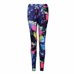 2017 Brand Women's Tracksuits Gym Fitness leggings Slim Colorful Running Tights For Women Breathable Yoga Pants #YEB