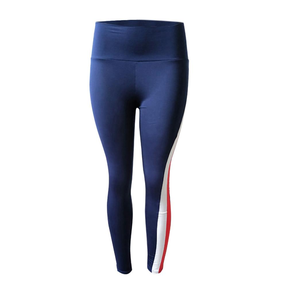Women High Waist Sports Gym Yoga Running Fitness Leggings Pants Workout Patchwork Clothes