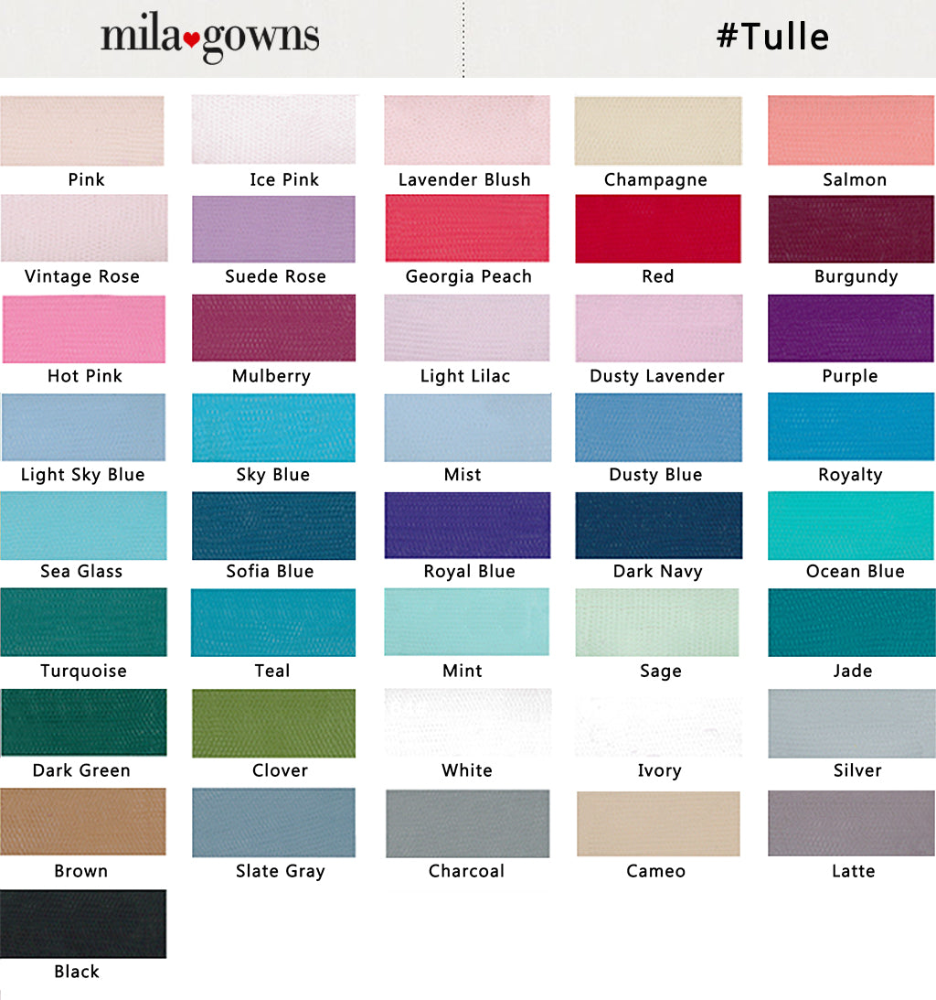 Color Chart - Soft Tulle