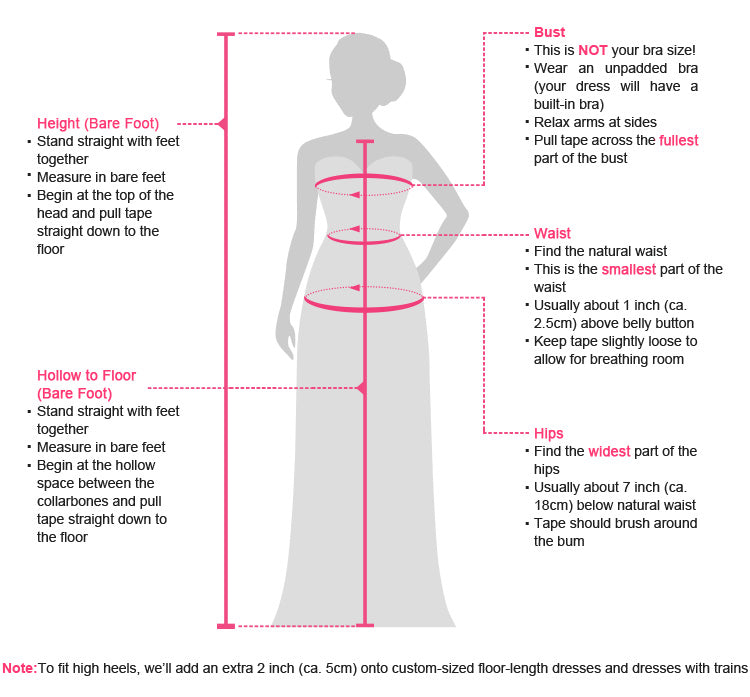 How to measure bridesmaid dresses