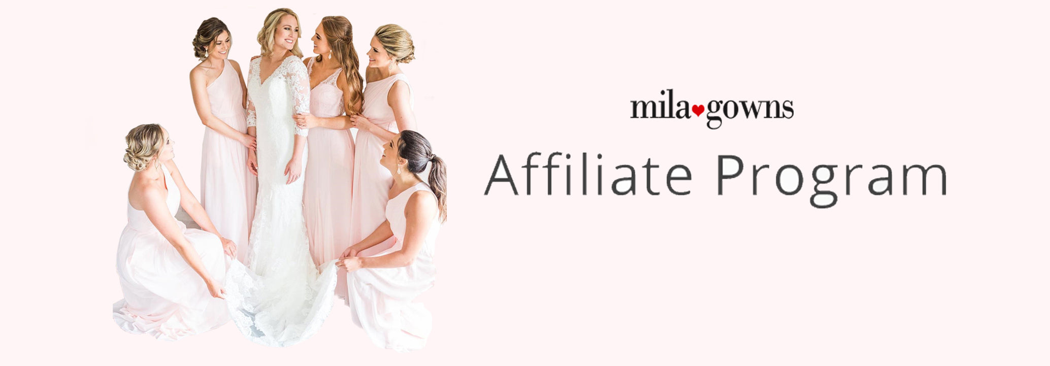 mila gowns affiliate program for bridesmaid dresses and wedding dresses