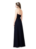 Mila Gowns Itzel Long A-Line Sweetheart Chiffon Dark Navy Bridesmaid Dress 172009