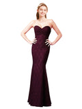Mila Gowns Myra Long A-Line Sweetheart Lace Grape Bridesmaid Dress 172029