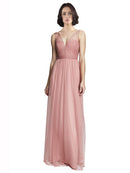 Mila Gowns Marjorie Bridesmaid Dress in Rose Pink Color