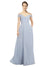 Mila Gowns Emery Long A-Line Off the Shoulder Chiffon Light Sky Blue Bridesmaid Dress 174124