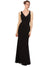 Mila Gowns Eliza Long Sheath V-Neck Chiffon Black Bridesmaid Dress 174147